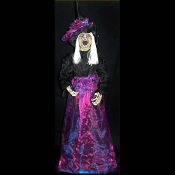 Animated Dementia the STANDING WICKED WITCH Life-Size Light-up Eyes Cackling Sound and Motion Activated Prop Decoration LIFESIZE Almost 6-feet Tall DEMENTIA STANDING WITCH with Cackling Audio Sound and Lighted Eyes