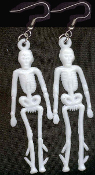 SKELETON VINTAGE CHARM EARRINGS - Mini Pirate Gothic Punk Anatomy Halloween Costume Jewelry