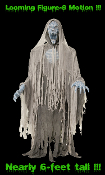 Life-Size Animated EVIL ENTITY GHOST REAPER ZOMBIE Light-up Sound Halloween Prop 6-Feet - AMAZING Figure-8 Movement - One of the most super scary spooky Haunted House props yet!!! - See Youtube Demo!