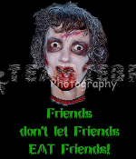 Gothic Zombie FRIENDS DON'T LET FRIENDS EAT FRIENDS T-SHIRT The Walking Dead Halloween Costume Party Unisex Punk Ghoul Novelty Tee – Soft white short-sleeve cotton top. Youth and Adult size. Exclusive design Creepy Graphic Horror Funny Apparel