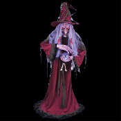 Cheap Wholesale Discount ANIMATED, Animatronic, Witches, Gypsies, Fortune Tellers, Witch, Gypsy, Fortune Teller Haunted House Props Halloween Decorations
