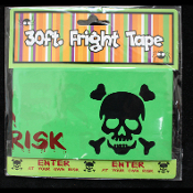 Gothic Decor-ENTER AT YOUR OWN RISK-Fright Caution Tape-Halloween Prop Costume Party Decoration Haunted House Decor-30 ft-Slime Green, Black and Blood Red