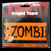 Gothic-CAUTION ZOMBIES-Fright Caution Tape-Halloween Party Prop Decoration-30ft