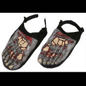 Funny Gross Decayed Halloween Horror Prop - ZOMBIE FEET SHOE COVERS - Walking Dead Cosplay Costume Accessory Creepy Rotting Cemetery Graveyard Dungeon Morgue Dead Body Bloody Foot Bones