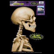 Funny Car Window Mirror Cling Skull Decal SKELETON BACKSEAT DRIVER Halloween Prop Decoration Party Supplies. Who's in your hearse backseat? Your backseat driver is literally bored to death! Fun Skeleton Backseat Driver Car Static Vinyl Cling.