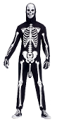 Halloween SKELEBONER ADULT COSTUME Funny Suit Mask-Skeleton Bones print jumpsuit. Adult humor-includes male member. *We do not usually carry costumes, just parts and accessories, but couldn't help but include this one! Fits most up to 6-ft, 200 lbs
