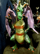 DRAGON LATEX 24-inch Fantasy Gothic Halloween Prop Decoration. Fantasy dragon appears to come straight out of King Arthur's Camelot and Merlin's Dark Magic of the Middle Ages. Multi color schemes give this winged creature the most realistic look.