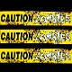 Walking Dead Caution Zombies Fright Tape Halloween Decoration