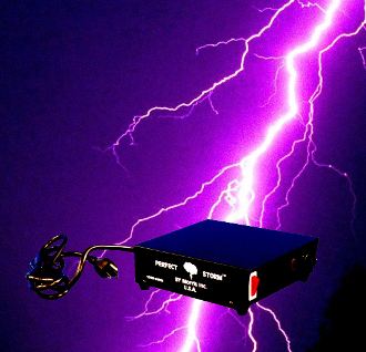 PERFECT STORM Halloween Prop Building Special Effects Controller-Allows lights to flash on and off when you hear thunder on included CD. Plug in your lights to the Control Box and place in front of CD Player. Lights flash synchronized with thunder!
