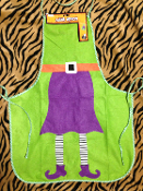 Fun Kitchen Chef Bib Bad Halloween WICKED WITCH APRON Bakery Decoration. The witch is in! Just add a cauldron, hat and broom for your costume to be complete at your next party. Are you a GOOD witch or a BAD witch? Take off with your flying monkeys!
