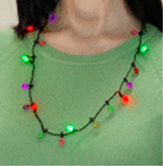 Glow Christmas Lights LED FLASHING NECKLACE Holiday Party Favors