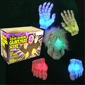 Rainbow Color-Change LIGHT-UP ZOMBIE GROUNDBREAKER Outdoor Yard Decor Halloween Prop Decoration-Perfect for your graveyard scene! Luke-the-Spook multi-color lighted set includes head, two hands, two feet. Battery-operated, to display anywhere!