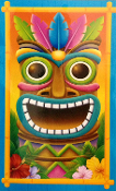 Tropical Island Create Scene Setter TIKI HEAD MASK DOOR COVER WALL HANGING Luau Beach Pool Party Decoration Prop. Multi-Color Hawaiian Tahitian Totem Voodoo Pirate Decor Theme WINDOW MURAL TABLE TOPPER SKIRT CLOTH COVER Indoor Outdoor Party Supplies