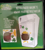 Refrigerator Locker Car POT O GOLD SHAMROCKS PUZZLE MAGNET SET Novelty Lucky Irish Saint Patrick Theme Holiday Gift Party Decoration. Use on Refrigerator, File Cabinet, Metal Garage Door, School Locker, Dishwasher, Car, Truck, Smooth Metal Surfaces.