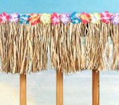 Real Natural Raffia Trim Deck Fringe Grass Thatch Garland Floral Decoration is attractive for any Luau at a low price, keeping you as happy as your party guests. Authentic island flower pirate theme decor can change any area into a tropical paradise!