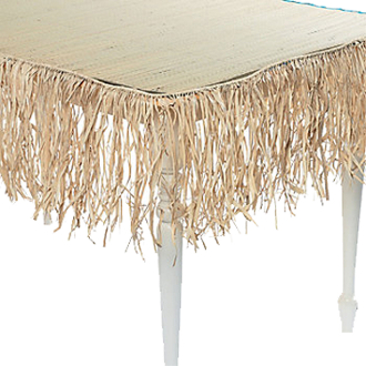 Natural Raffia Trim Deck Fringe Garland Decoration is an attractive addition to your Luau party at an affordable price that keeps your check book as happy as your Luau guests. Authentic island theme decor can change any area into a tropical paradise!