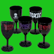 Halloween-BLACK GOTHIC GOBLET-Costume Party Cup Wine Drink Glass - Medieval Steampunk Cosplay Vampire Witch Wizard Alchemy - BLACK GOTHIC GOBLET - Potion Cup Drinking Vessel - Holds 14 ounces of your favorite beverage!