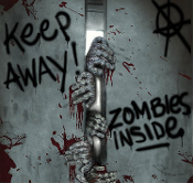 Walking Dead-Keep Away-Turn Back-Do Not Open-ZOMBIES INSIDE VISITORS BREAKOUT HANDS DOOR COVER MURAL Halloween Haunted House Party Horror Movie Prop Decoration Apocalypse Window Wall Hanging Living Undead Cemetery Graveyard DIY Prop Building Supplies