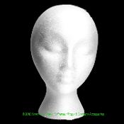 Life Size Haunted House Stage Theater Cheap Prop Building Supplies-STYRO MANNEQUIN HEAD-Halloween Mask Wig Hat Cap Model Theatrical Costume Display Stand Holder Decoration-Hair Stylist Beautician Accessory Art Craft Sewing Shop Store Supply-FEMALE