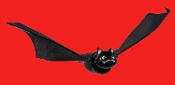 Plastic animated flying black bat toy with heavy paper wings and lifelike movement is a great prop for your haunted scene! Then turn it on and the eyes light up and it will flap its wings, continuously flying in smooth circles for you!