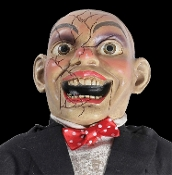 CREEPY CHARLIE HAUNTED DOLL with SOUND. Jolly little doll has a wicked side that you can only get to know from bringing him home with you. Give him a new home...if you dare! Features sound or push-activated sounds, Says one of three sayings.