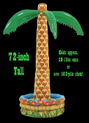 Inflatable Palm Tree with Cooler base is perfect for your next Luau or summer beach pool party! 6-foot tall Coconut Palm Tree decoration works great as an accessory, and also as a cooler to serve canned or bottled beverages, as well as jello shots!
