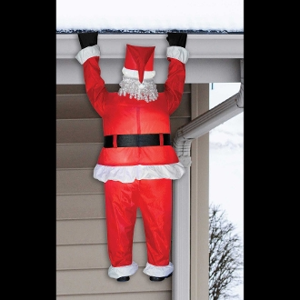 Airblown Funny Roof Hanging Santa Christmas Outdoor Decoration