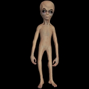 Cheap Wholesale Discount ANIMATED Animatronics ALIENS, Extra Terrestrials, Alien, ET, Space Creatures, Martians, Sci-Fi Props, Science Fiction Decorations