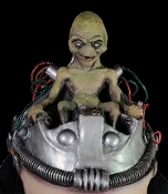Cheap Wholesale Discount Realistic Life Size Creepy ALIENS, Spooky Extra-Terrestrials, Scary Martians, Sci-Fi UFO, Frightening Space Men, Roswell Theme Decor, Haunted House Props, Halloween Decorations - Non Moving - Props Do NOT Move