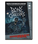 Animated AtmosFEARfx BONE CHILLERS Digital Special Effects FX DVD Decoration. Frightfully Entertaining! Watch skeletons and reapers come alive on the wall or creepily scurry by! Multiple displays for projection on wall, window, TV or monitor.