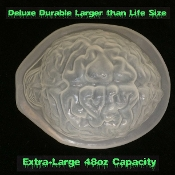 DELUXE Larger than Life Size HUMAN BRAIN GELATIN ICE MOLD Creepy Zombie Food Halloween Party Decoration Durable Jello Dessert Mould DIY Crafts Horror Prop scary Walking Dead Body Part. Freak out friends with a ghoulishly spooky appetizer! Eat BRAINS!