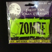 Gothic Decor Walking Dead Apocalypse--ZOMBIE OUTBREAK--Warning Fright Police Barricade Sign Caution Tape Ribbon Border-Cosplay Costume Party Spooky Haunted House Accessory Halloween Prop Cemetery Graveyard Decoration-Red Black-30 Feet Long