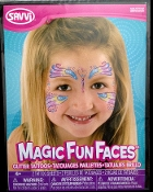 Magic Fun Faces Glitter Tattoos-RAINBOW PEACOCK-Colorful Stick Tattoo Decals. Eye Shadow Face Art Wear Sticker. Fake Temporary Transfers Special Effects Instant Cosmetic Accessory, pictured. Add your own makeup. Easy application, removal. Lasts days.