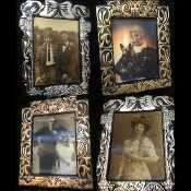 Spooky Halloween Prop Creepy MINI LENTICULAR PRINT Decoration Scary HOLOGRAPHIC IMAGE CHANGING PICTURE Haunted House Wall Portrait Flicker Photo Illusion Dimensional Frame-Vintage Style Walking Dead Zombie Monster Demon Skeleton Ghost Spirit GORTRAIT