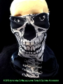 Half Face Mask Magic Scarf GOTHIC GHOST SKELETON SKULL Balaclava Hat Cap Head Wrap Headband Seamless Tube Comfortable Breathable Wind Dust Bug Sun Protection Multi Use Winter Sports Outdoor Military Tactical Armed Forces Biker Cosplay Pirate Costume
