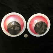 2 pc giant wiggle googly eyes jumbo gag crafts decorations red - Halloween Clearance Decorations