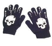 Cheap Wholesale Discount Warm Winter Magic Stretch Novelty GLOVES, Funny Character Mittens, Halloween Cosplay Costumes Accessory Gothic Punk Biker Diva Rave Lolita Steampunk Horror Theme Costume Accessories