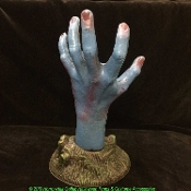 Creepy Life Size Rotting SEVERED ZOMBIE HAND Halloween Haunted House Ground Breaker Indoor Outdoor Lawn Yard Cemetery Graveyard Garden Prop Decoration. Our monster ghoul decomposing body part is reaching from his grave to scare unsuspecting visitors!