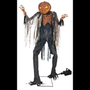 Cheap halloween skeletons skulls bones shrunken head for Animated scarecrow decoration