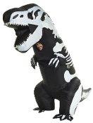 Now, you can have the CRAZY COSTUME that has gone VIRAL! Funny SKELETON T-REX INFLATABLE INSTANT COSTUME Airblown Museum Dinosaur-UNISEX Fits Most ADULTS Teens-Hysterical VIRAL VIDEO CHALLENGE Halloween Cosplay Complete Easy Outfit with Fan Accessory
