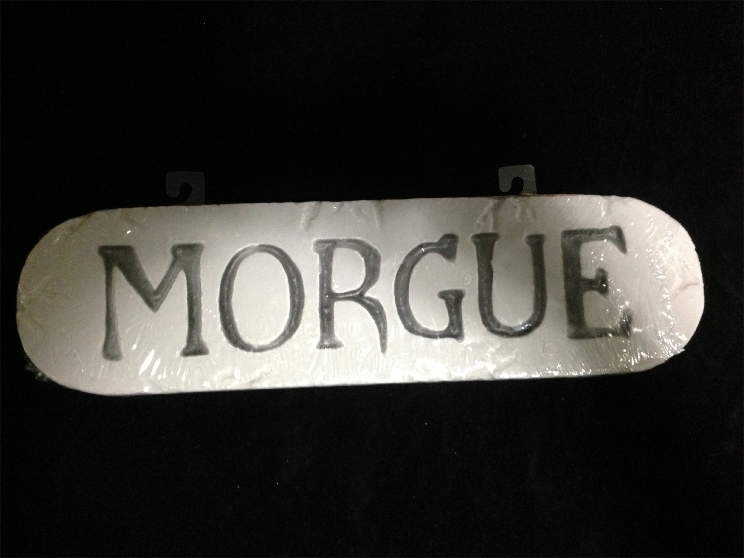 csi horror sign morgue mad scientist props halloween decorations