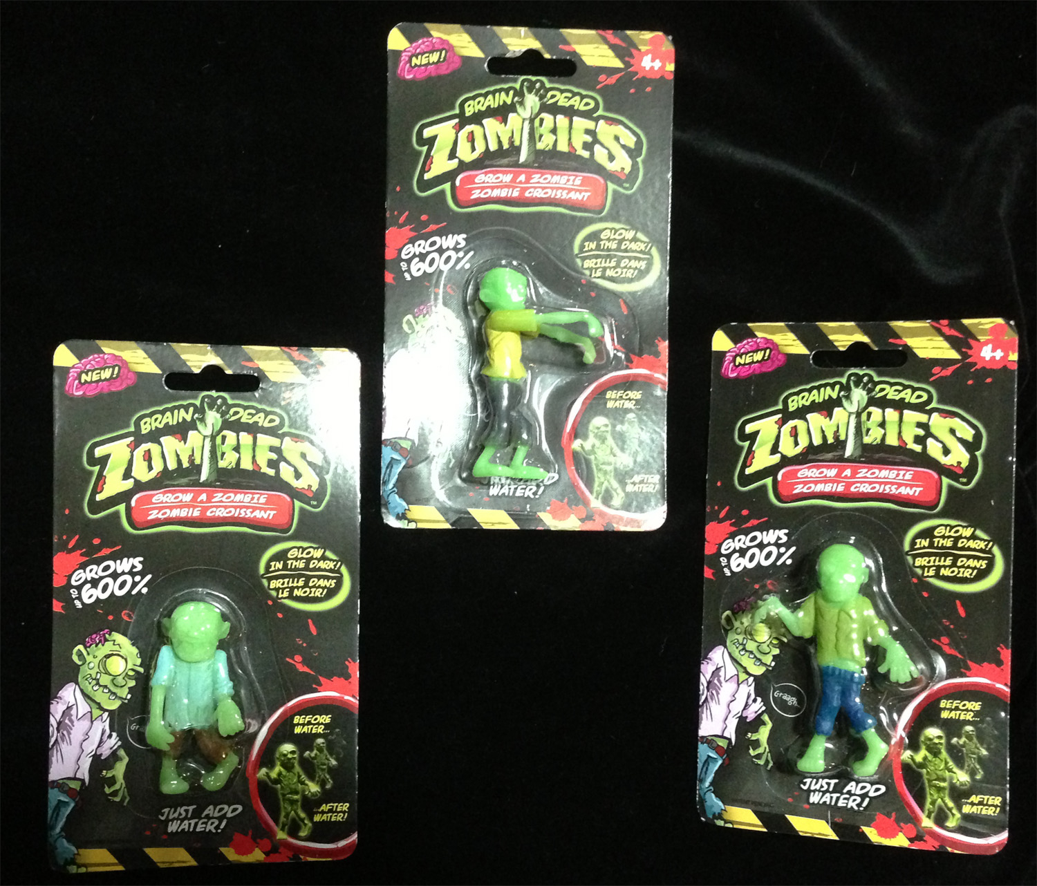 Zombie party ideas zombie party supplies 3 - Gag Gift Magic Growing Glow Zombies Figures Crew Set Of 3 Walking Dead Decoration Horror Mad