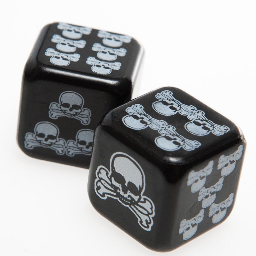Black skull chair - Funky Gothic Black With White Skull And Crossbones Death Dice Casino Night Craps Roleplay Game Punk