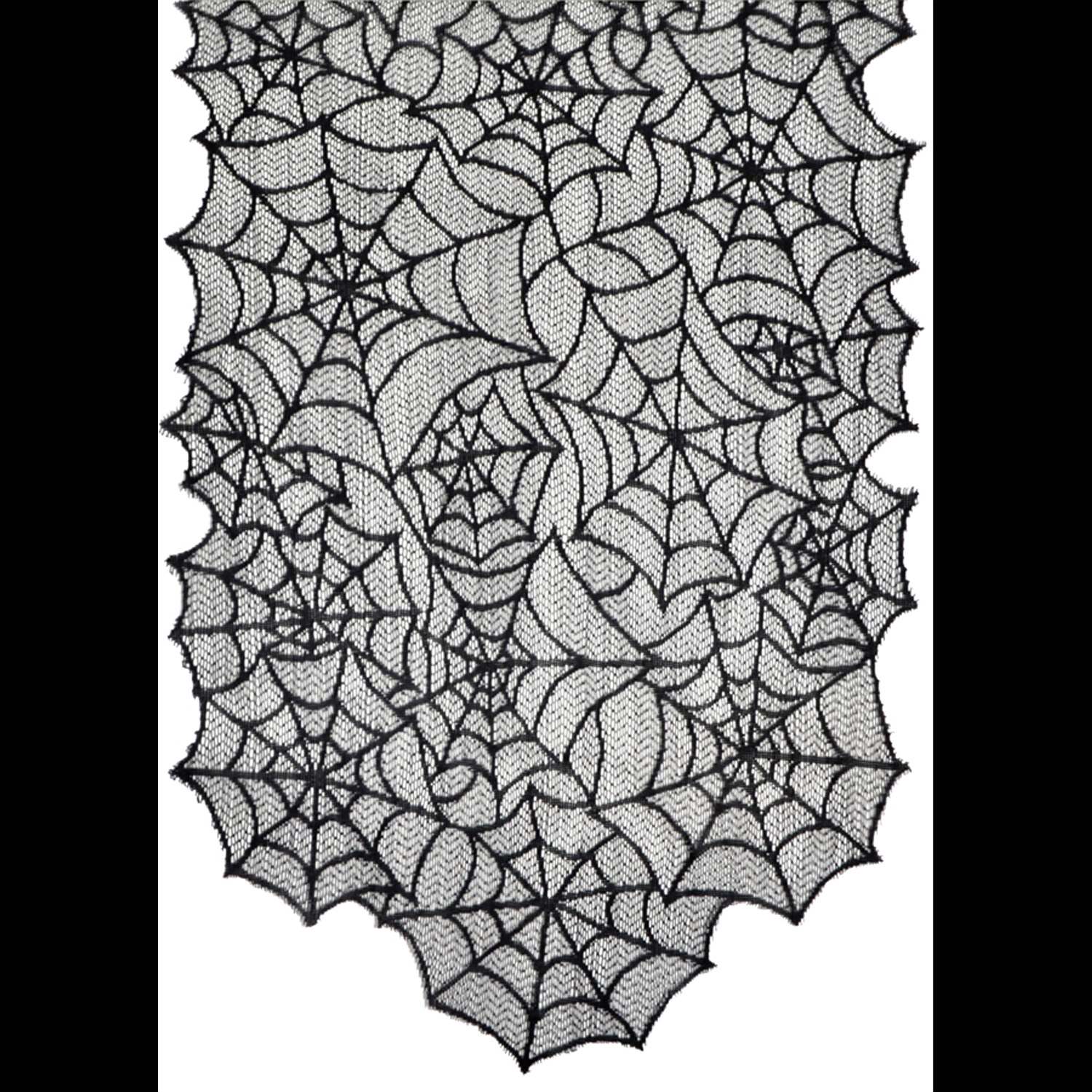 gothic black lace spider web table runner halloween decorations - Spider Web Halloween Decorations