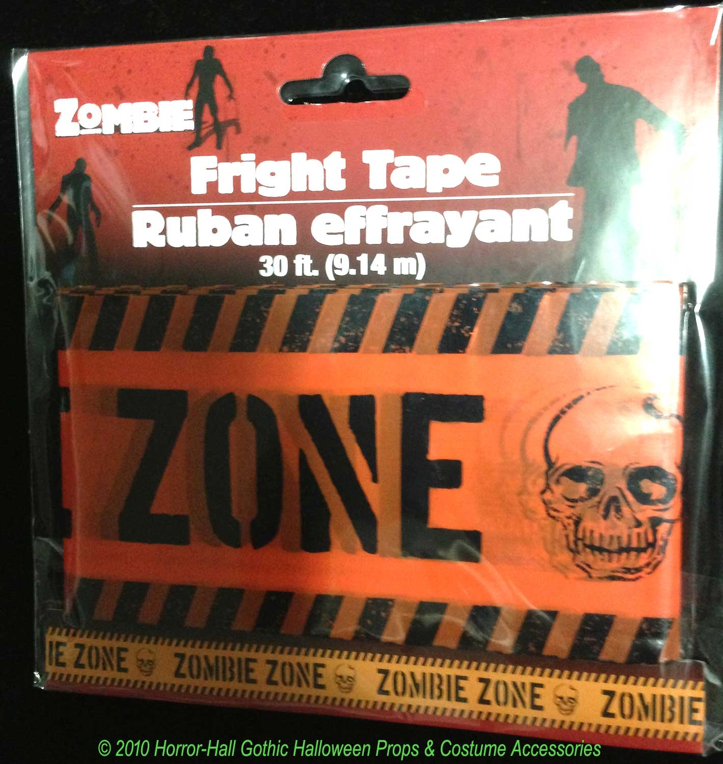 spooky graveyard walking dead zombie zone barricade fright caution tape haunted house - Discount Halloween Decor