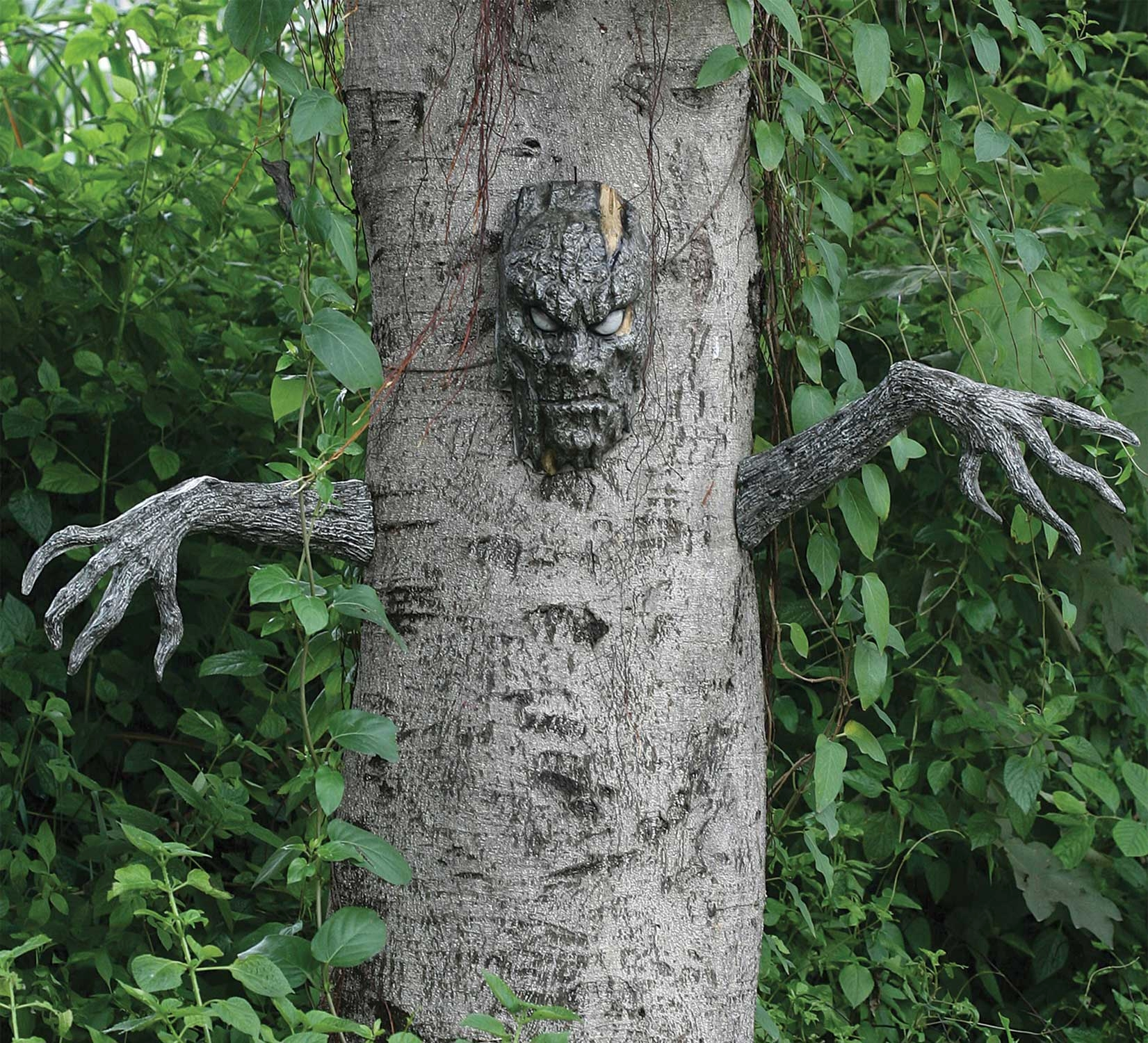 realistic spooky living tree man decor haunted forest prop creepy halloween indoor outdoor graveyard cemetery yard - Scary Halloween Yard Decorations