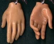 Body Part HAND FINGERS EARRINGS Funky Realistic Nail Tech Jewelry