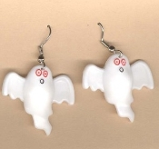 GHOST EARRINGS - Halloween Costume Trick-or-Treat Charm Jewelry -CUTE
