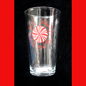 EAT DRINK BE MERRY-BEER PINT NOVELTY DRINK GLASS-Christmas, New Year, Mardi Gras, Poker Game, Fantasy Football, Sports Bar, Drinking Party Favor Holiday Decoration-16oz-Candy Swirl Decorated Water Beverage Barware-Kitchen,Dining Room,Restaurant Decor