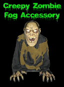 Halloween Special Effects Creepy BILIOUS ZOMBIE CORPSE GHOUL ANIMATED FOG Machine Accessory FX Prop 2-feet tall Gothic Evil Realistic Animatronic Monster Creature Fogger Accessory hooks to fog machine. Head moves back and forth. See YouTube Demo!